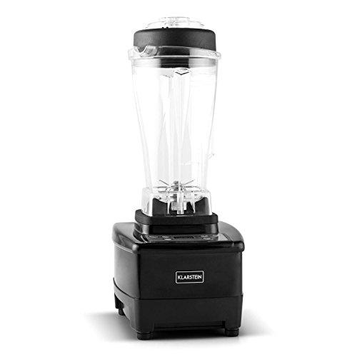 Klarstein Herakles 4G - Mixeur/Blender 35 000 tours/minute 2L sans BPA avec 6 lames pour préparation de smoothies, soupes, crèmes (pieds anti-dérapants, couvercle caoutchouc étanche, 7 programmes) - noir