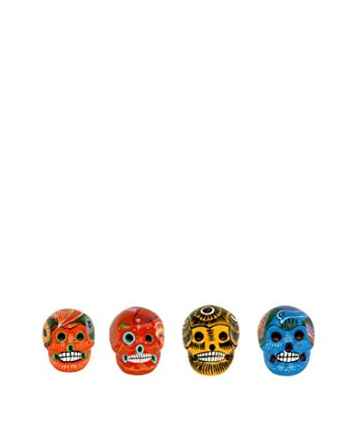 Uptown Down Set of 4 Hand-Painted Small Ceramic Sugar Skulls