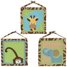 Zoo Zoo Animals Three Piece Wall Hanging Set - 1