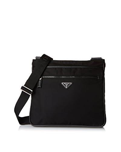 PRADA Men's Nylon Bandoleer Messenger Bag, Black