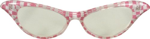 ES32904/42 (Pk) 1950's Checker Cat Eye Glasses