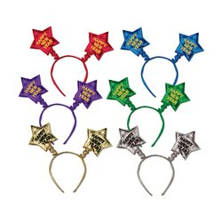 [Happy New Year Star Boppers (asstd colors) Party Accessory  (1 count) (1/Pkg)] (Happy New Year Boppers)