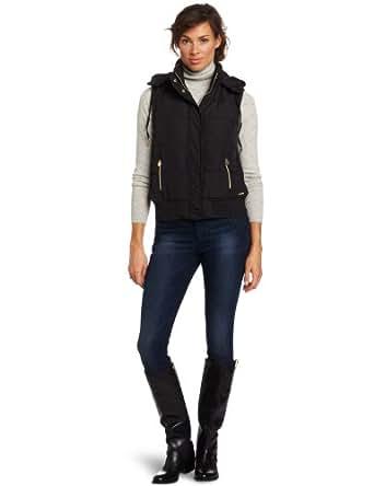 Calvin Klein Performance Women's Hooded Puffer Vest, Black, Small