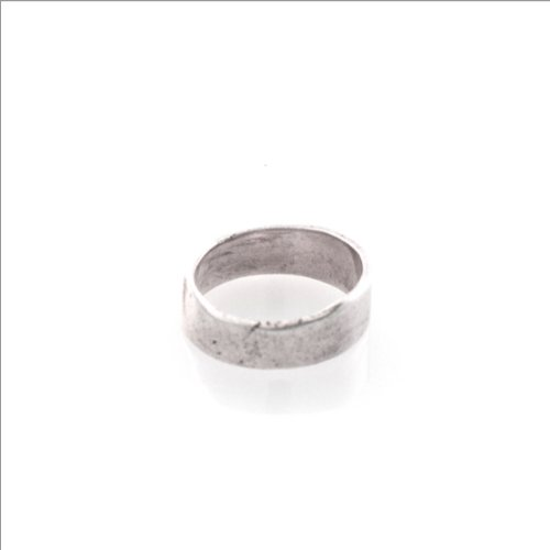Kiel Mead-Silver Pounded Band Ring - 4