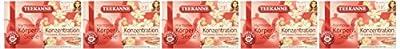 Teekanne Harmonie für Körper und Seele Konzentration, 5er Pack (5 x 40 g) von Teekanne - Gewürze Shop