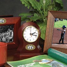 Brigham Young (BYU) Cougars Desk Clock