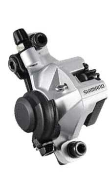 Image of Shimano BR-M375, Mechanical Disc Brake Caliper, Front or Rear, Silver (EBRM375MPRS)