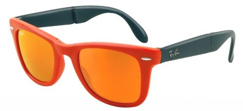 Ray-Ban 4105 601969 Orange 4105 Folding Wayfarer Wayfarer Sunglasses Lens Categ Reviews