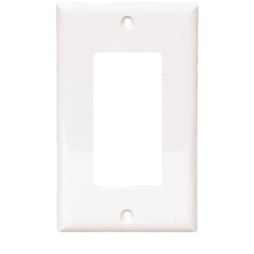 Cooper Wiring Devices 5151W-Sp-L Nylon 1-Gang Gfci Decorator Standard Size Wall Plate, White front-926563