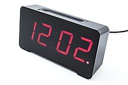 Sandman 4 Port USB Charging Alarm Clock (Black)