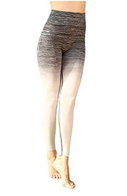 Lotus Instyle Frauen Yoga Pants Farbverlauf Trainings Leggings Stretch Hose