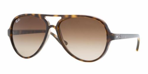 Ray Ban Sunglasses Aviator RB4125 CATS 5000, Light Havana/Crystal Brown 710/51 (Size 59)