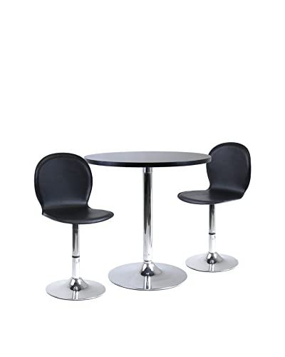 Luxury Home Spectrum Modern 3-Piece Dining Table Set