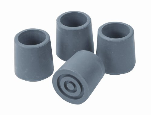 Mabis/Dmi Healthcare Commode/Walker Replacement Tips, Gray front-957517