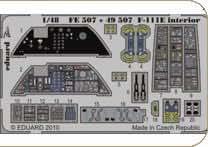 Eduard Photoetch 1:48 - F-111E Aardvark S.A. (Hobbyboss)