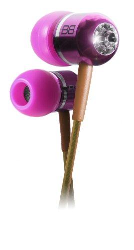 Bassbuds Faschion Collection Candy - Auricolari con inserti Swarovski originali, connettore dorato da 3,5 mm