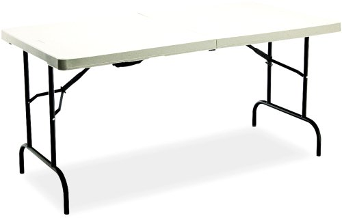 Iceberg 65453 Indestruc-Tables Too Table, Bi-Fold, 60w x 30d x 29h, Platinum