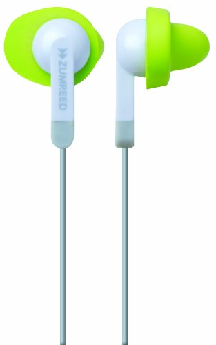 Zumreed Zum-80306 Fit N Quiet Memory Foam Cushioned Earphones (White)