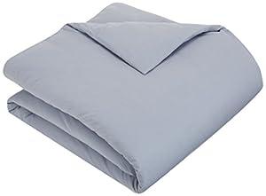Pinzon Flannel Duvet Cover - Full/Queen, Dusty Blue