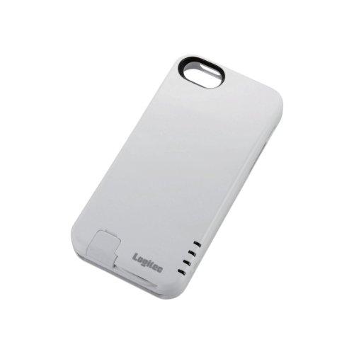 Logitec モバイルバッテリー (Apple認証 Made for iPhone取得) リチウムイオン電池 ケース一体型 2000mAh Lightningコネクタ装備 ホワイト LPA-LC1-2010WH