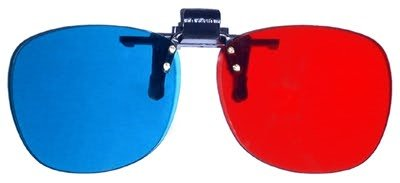 Clip On 3D Glasses for 3D Movies, DVD's and Gaming that Require Red/Cyan Lenses
