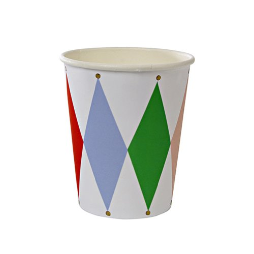 Meri Meri Toot Sweet Harlequin Pattern Party Cup
