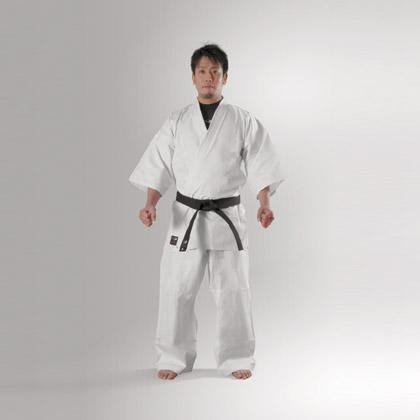 Body manufacturer ( BODYMAKER ) white full contact karate clothing 7 issue size (upper and lower set) [product number: KTT]