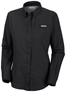 Columbia Women's Tamiami II Long Sleeve Shirt, 3X, Black