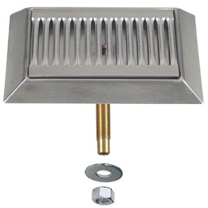 """Micro Matic DP-420D 9"""" Stainless Steel Bevel Edge Drip Tray with 1/2"""" ID Drain"""