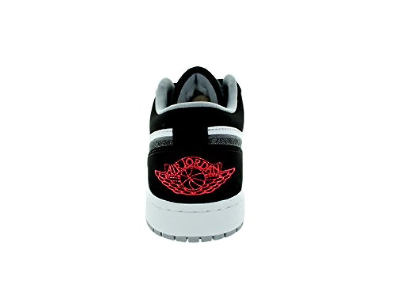 Nike Jordan Men's Air Jordan 1 Low Black/Infrrd 23/White/Wlf Grey Basketball Shoe 10 Men US