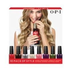 OPI Coca-Cola Mini Pack Nail Lacquer, 10 Count