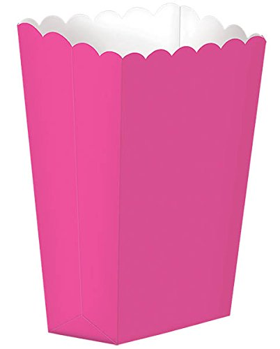 """Amscan Fun Small Popcorn Box, 5-1/4 x 3-3/4""""5-1/4 x 3-3/4"""", Pink - 1"""