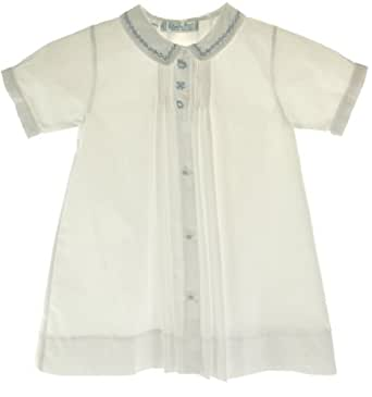 Feltman Brothers Boys White Daygown with Train - Newborn