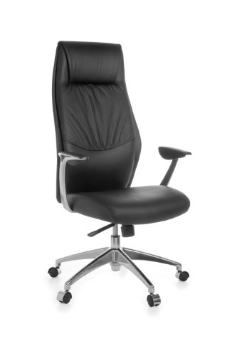 Amstyle Oxford 1 Director's Chair with 5-Point Synchro Mechanism Genuine Leather Black