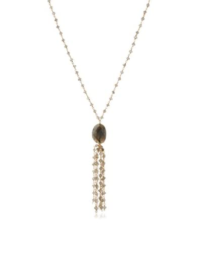 Heather Hawkins Labradorite Tassel Necklace