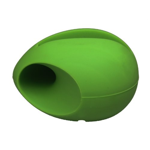 eFuture(TM) Green Egg Shaped Stand Silicon Amplifier fit for the new iPhone5 5G +eFuture's nice Keyring
