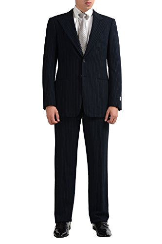 Armani-Collezioni-Mens-100-Wool-Striped-Two-Button-Suit-US-38R-IT-48R