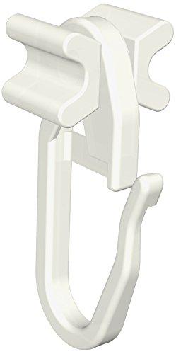 16071003 0000 Faltengleiter X-Gleiter mit Faltenhaken für 6 mm Laufbreite, Kunststoff, Packungsinhalt 100 Stück
