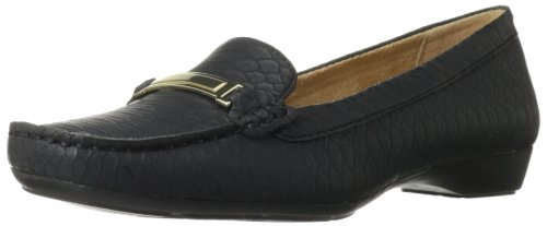 Naturalizer Women's Gadget Slip-On Loafer,Black,8 M US