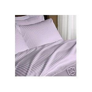 1000 Thread Count Three (3) Piece Queen Size Lavender Stripe Duvet Cover Set, 100% Egyptian Cotton, Premium Hotel Quality (Hotel Stripe Duvet Cover compare prices)