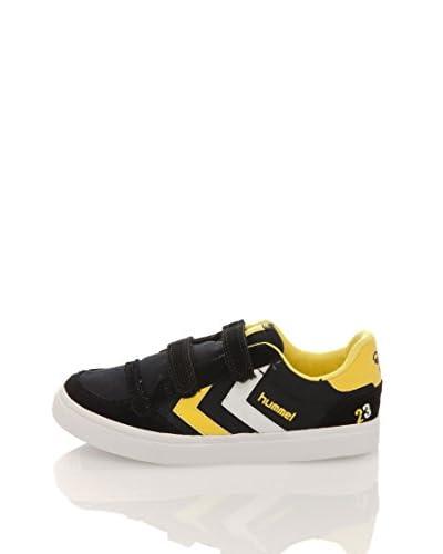 Hummel Hummel Stadil Canvas Junior Bassa Sneaker [Nero/Bianco]
