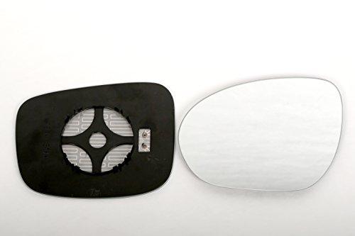 ASG Technik Außenspiegel Spiegelglas Ersatzglas Fiat Doblo ab 2010 LINKS SPHÄRISCH KOMPLETT BEHEIZT