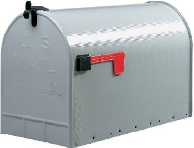 Solar-Group-ST200000-Stanley-Post-Mailbox-Silver-Gray-Galvanized-Steel-Jumbo-15-x-115-x-235-In
