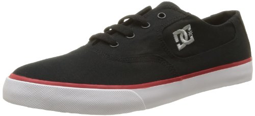 DC Shoes Mens Flash TX M Shoe Low-Top 302911 Black/ATH Red/White 6 UK, 39 EU