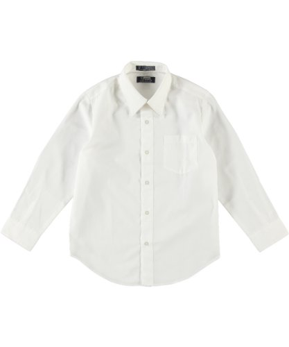 French Toast Boys White Long Sleeves Dress Shirt - E9004 - White, 10 Husky