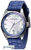 Emporio Armani Purple Silicon Ladies Watch Ar5881