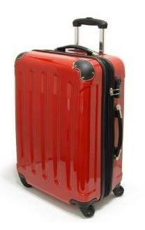 Koffer Trolley Rot 60cm Hartschale Reisekoffer