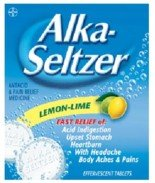 Alka Seltzer Antacid & Pain Relief Lemon Lime 24 Effervescent Tablets