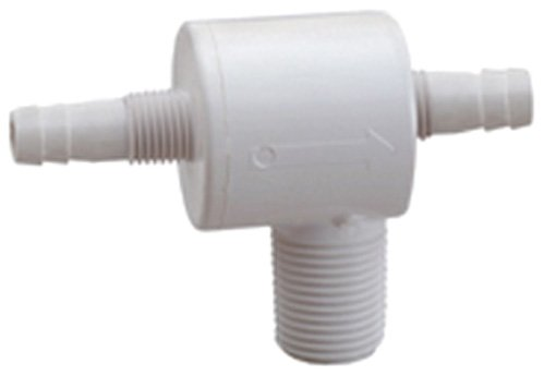 "Attwood Corporation 6115A1 Check Tees with 3/8"" Barb"