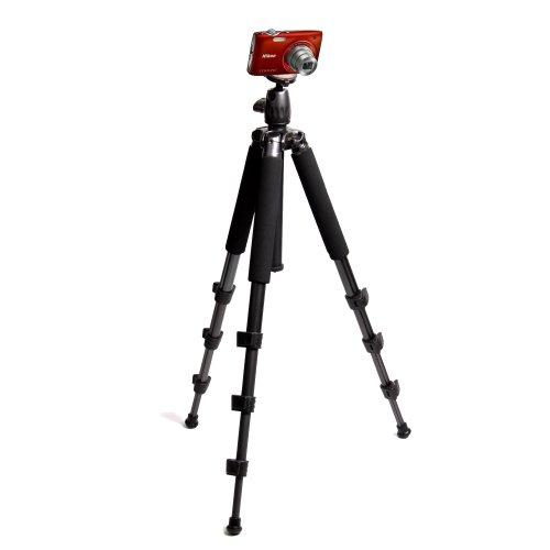 Aluminium Extendable Travel Tripod For Nikon COOLPIX P300, S9100, P7100, S3100 & AW100, By DURAGADGET